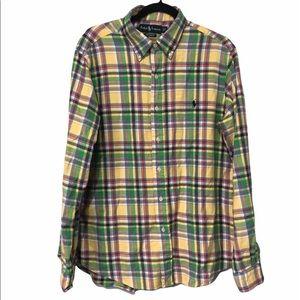 Ralph Lauren Flannel Long Sleeve Button Down, L